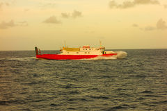 An island ferry crossing the bequia channel Royalty Free Stock Image