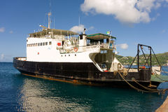 An island ferry at the grenadines wharf Stock Photography
