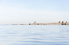 Island with few trees Royalty Free Stock Photos