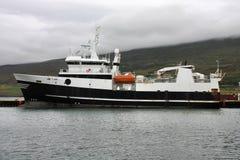 Island - Fischenlieferung Stockfotografie
