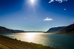 Island fjordland Arkivbilder