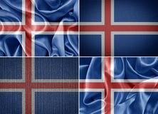Island flagga Arkivfoton
