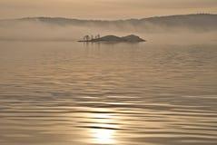 Island in the fog. (3) Stock Photo