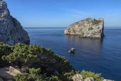 Island of Foradada - Sardinia - Italy Royalty Free Stock Photos