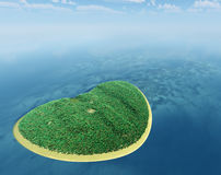 Island in the form of heart Royalty Free Stock Photo