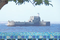 Island fort off diu india Stock Photo