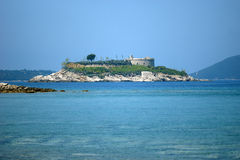 Island with fortress Mamula. Attraction of the Adriatic - the island with the fortress of Mamula, Montenegro Stock Image