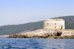The island the fortress, Montenegro Stock Images