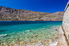The island-fortress of Spinalonga Royalty Free Stock Photography