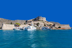 The island-fortress of Spinalonga Stock Photos