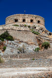 The island-fortress of Spinalonga. Royalty Free Stock Image