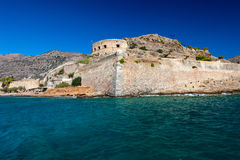 The island-fortress of Spinalonga in Crete Stock Photography