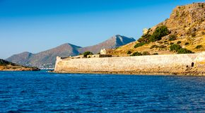 The island fortress of Spinalonga, Crete, Greece Stock Photo