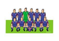 Island fotbollslag 2018 Royaltyfri Illustrationer
