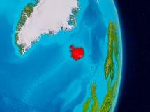 Island från utrymme Arkivbilder