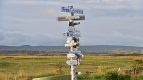 Island, freies Kampieren in Selvogur lizenzfreies stockfoto