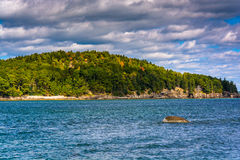 Island in Frenchman Bay, in Bar Harbor, Maine. Royalty Free Stock Image