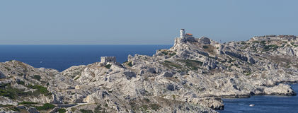 The island Frioul near Marseille in France Royalty Free Stock Photography