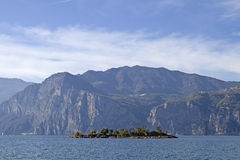 Island in front of Malcesine Royalty Free Stock Photos