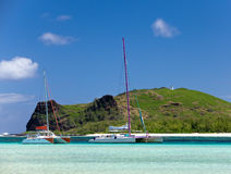 island Gabriel.Mauritius. Catamarans Stock Image
