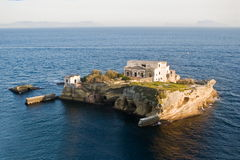 Island of the Gaiola, Naples. Island of the Gaiola in the archaeological and nature Park of Pausilypon, Naples in Italy Royalty Free Stock Photography
