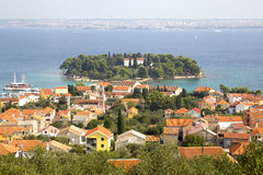 Island Galevac, town Preko, Croatia Royalty Free Stock Photography