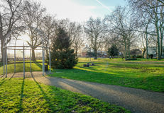 Island Gardens Park with the Greenwich foot tunnel. Royalty Free Stock Photos