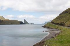 The island Gasholmur on the Faroe Islands Royalty Free Stock Photos