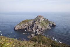 Island Gaztelugatxe on the coast of Biscay. In Basque Country (Spain Royalty Free Stock Images