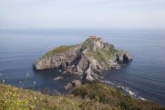 Island Gaztelugatxe on the coast of Biscay Royalty Free Stock Images