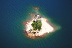 On an island. An  island on Georgia Lake Lanier Royalty Free Stock Images