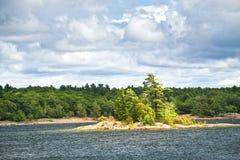 Island in Georgian Bay Royalty Free Stock Photos