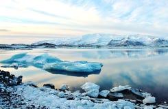 Island glaciär Royaltyfri Bild