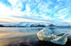 Island glaciär Royaltyfria Bilder