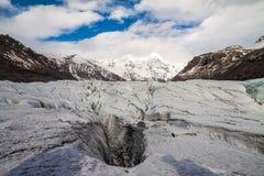 Island-Gletscher lizenzfreies stockfoto