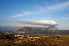 Island of Gokceada. A scene from Gokceada, wind, cloud, mountain, that's it GOKCEADA Stock Photography