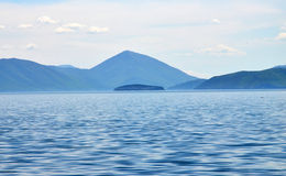 Island GOLEM GRAD on Prespa Lake, Macedonia Royalty Free Stock Images