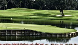The 17th Island Green at TPC Sawgrass in Florida is an Awesome Sight.