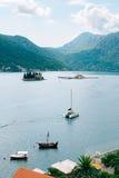 The island of Gospa od Skrpjela, Kotor Bay, Montenegro. Stock Image