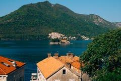 The island of Gospa od Skrpjela, Kotor Bay, Montenegro. Stock Images