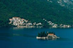 The island of Gospa od Skrpjela, Kotor Bay, Montenegro. Royalty Free Stock Images
