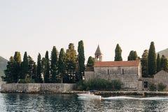 The island of Gospa od Skrpjela, Kotor Bay, Montenegro. Stock Photo