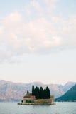 The island of Gospa od Skrpjela, Kotor Bay, Montenegro. Royalty Free Stock Photography