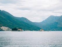 The island of Gospa od Skrpjela, Kotor Bay, Montenegro. Stock Photos