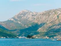 The island of Gospa od Skrpjela, Kotor Bay, Montenegro. Royalty Free Stock Photos