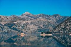 The island of Gospa od Skrpjela, Kotor Bay, Montenegro. Stock Photography