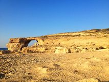 The island of Gozo - Azure window. The most famous place in Malta. You`ve seen this in many movies Stock Image