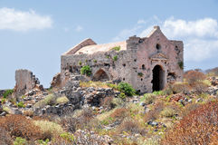 Island Gramvousa Fortress Stock Images