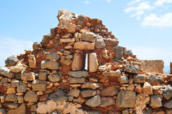 Island Gramvousa Fortress  Ruins Stock Photography