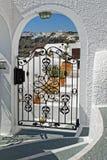 Santorini. Island of Greece with white houses Stock Photos